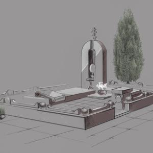 Дизайн памятника в Photoshop в Adobe Photoshop