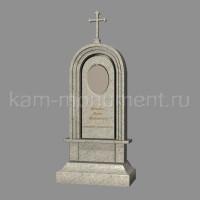 №3. Стандартный памятник из гранитов Империал Вайт