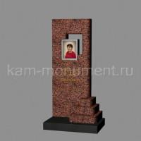 Стандартный памятник СТ2 из гранитов Лезниковский