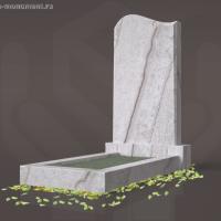 Памятник фигурный из гранита Beige Multicolour с фаской Кий