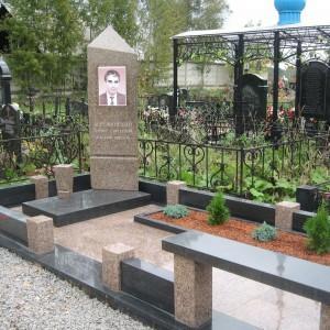 Каменная ограда для памятника 0003005