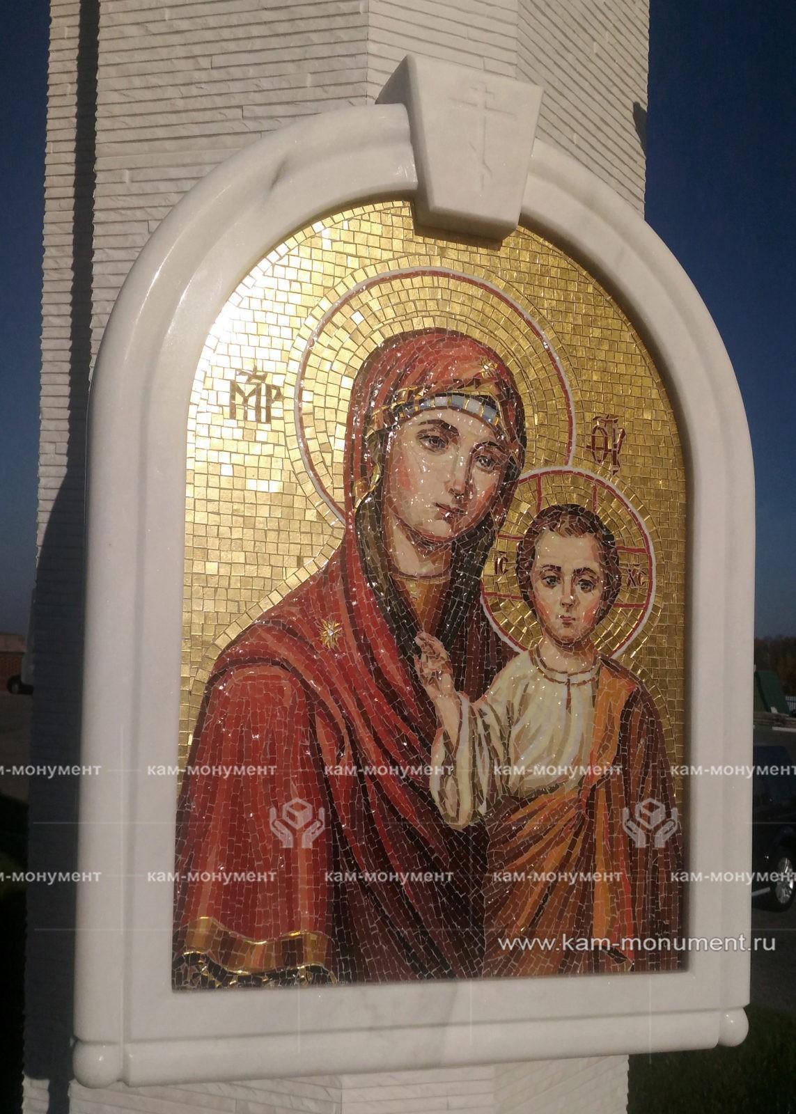 Смальта икона божьей матери